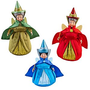 Sleeping Beauty Flora, Fauna and Merryweather Doll Set -- 3-Pc.