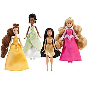 Mini Disney Princess Doll Set #1 -- 4-Pc.