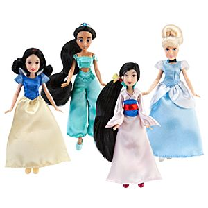 Mini Disney Princess Doll Set #2 -- 4-Pc.