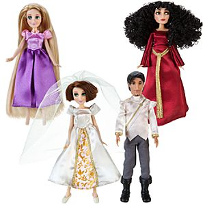 Tangled Ever After Mini Princess Doll Set -- 4-Pc.