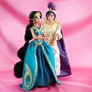Jasmine and Aladdin Doll Set - Disney Fairytale Designer Collection