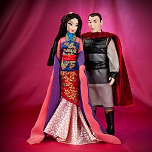 Mulan and Li Shang Doll Set - Disney Fairytale Designer Collection
