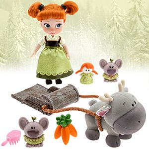 Disney Animators Collection Anna Mini Doll Play Set - 5