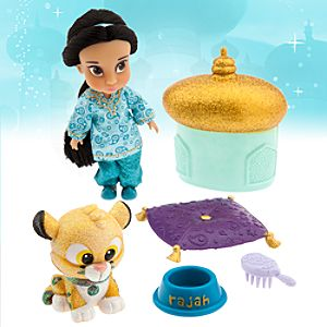Disney Animators' Collection Jasmine Mini Doll Play Set - 5""