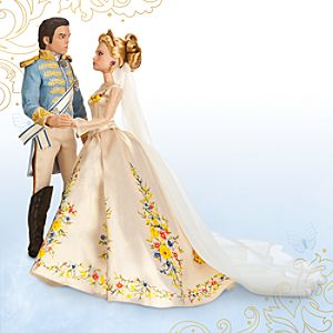 """Cinderella and The Prince Disney Film Collection Doll Set - Live Action Film - 11"""""""