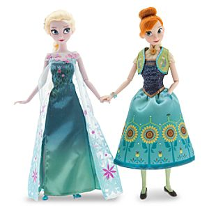 Anna and Elsa Dolls Summer Solstice Gift Set - Frozen Fever - 12