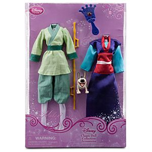 Mulan Classic Doll Collection Accessory Set -- 5-Pc.