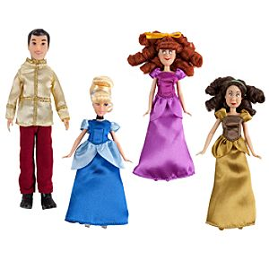 Cinderella Mini Disney Princess Doll Set -- 4-Pc.