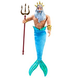 The Little Mermaid Classic King Triton Doll -- 12 H