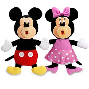 Minnie and Mickey Mouse Sing-A-Ma-Jigs Set -- 10 H -- 2-Pc.
