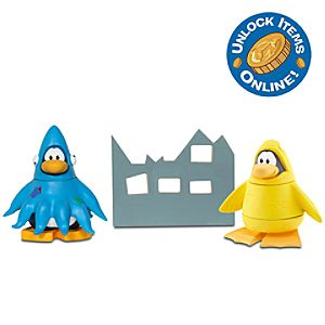 Club Penguin Mix N Match Figure Pack -- 2 H -- Squidzoid and 12th Fish