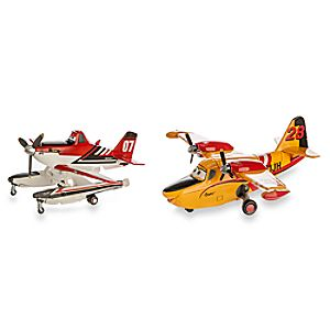 Firefighter Dusty and Lil Dipper Die Cast Figures - Planes