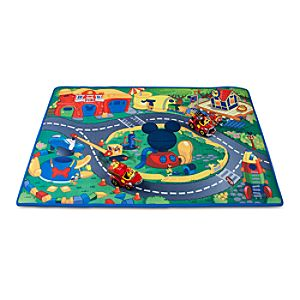 Mickey & Goofy Play Mat & Vehicles Play Set