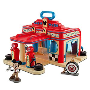 Mickey Mouse Gas 'N Wash Play Set