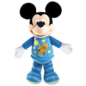 Bedtime Rocket Mickey Mouse Plush -- 12 H