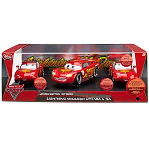 Limited Edition Lightning McQueen with Mia & Tia Die Cast Set -- 3-Pc.
