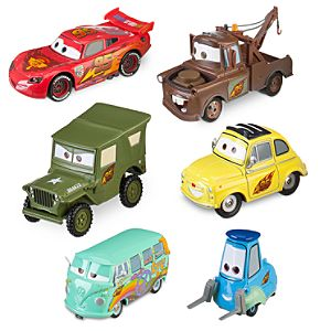 Team McQueen Cars 2 Die Cast Set -- 6-Pc.