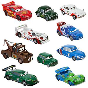Cars 2 World Grand Prix Racer Crew Chief Die Cast Car Set Featuring Lightning McQueen -- 10-Pc.