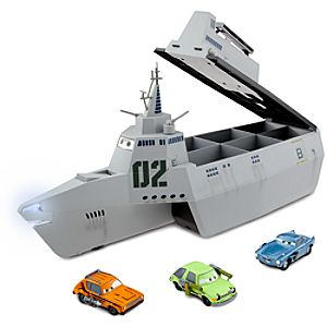 Cars 2 Combat Ship Play Set with 3 Die Cast Cars