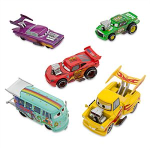 Cars Deluxe Die Cast Hot Rod Set