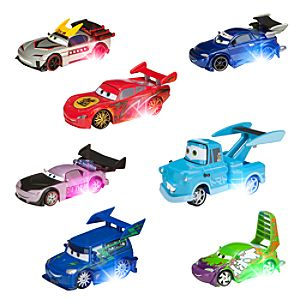 Cars Light-Up Tokyo Die Cast Deluxe Set