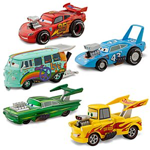 Deluxe Hot Rod Die Cast Vehicle Set