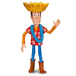 Toy Story Hawaiian Vacation Woody Action Figure -- 6 H -- With Build Trixie Part