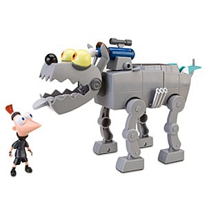 Phineas and Ferb Ferb My Ride Robot Dog & Resistance Phineas Play Set