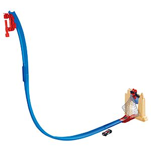 Ultimate Spider-Man Hot Wheels Web Swing Drop-Out Track Set by Mattel