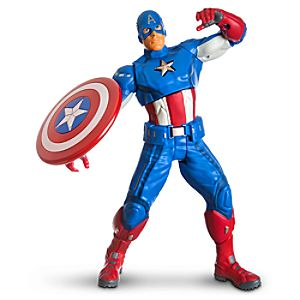 Ultra Strike Captain America Action Figure by Hasbro -- 10 H