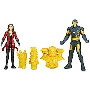 Marvels Captain America Civil War Action Figure Set - Iron Man and Scarlet Witch