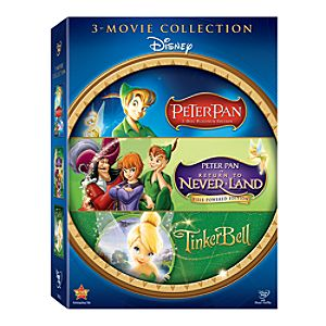 3-Pack Peter Pan and Tinker Bell DVD Gift Set