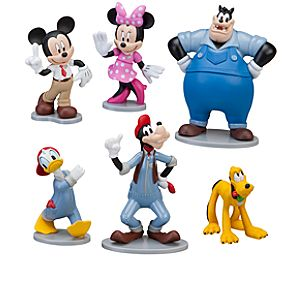 Mickeys Car Wash Mickey Mouse Figure Set -- 6-Pc.