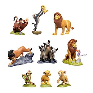 Deluxe The Lion King Figure Play Set -- 9-Pc.