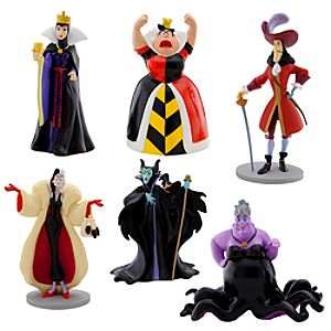 Disney Villains Figure Play Set -- 6-Pc.