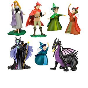 Sleeping Beauty Aurora Figure Play Set -- 7-Pc.