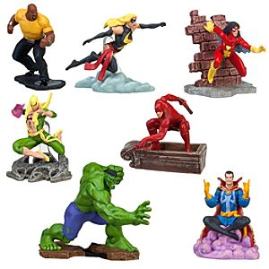 Marvel Universe Figure Play Set -- 7-Pc.