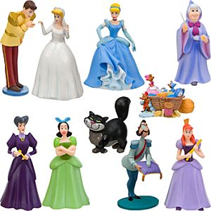 Deluxe Cinderella Figure Play Set -- 10-Pc.