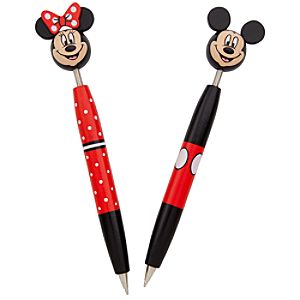 Bobble Head Minnie and Mickey Mouse Pen Set