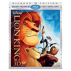 Pre-Order Diamond Edition 4-Disc The Lion King Blu-ray 3-D and DVD + Disney File Combo Pack with FREE Lithograph Offer