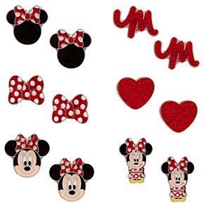 Minnie Mouse Earrings Set - 6-Pair