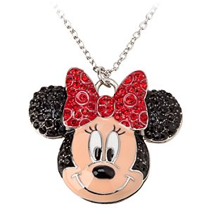 Minnie Mouse Rhinestone Necklace