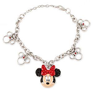 Minnie Mouse Rhinestone Bracelet