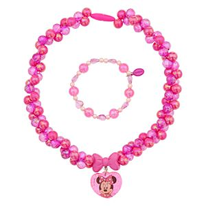 Minnie Mouse Necklace and Bracelet Set