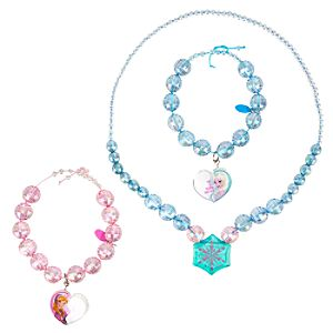 Anna and Elsa Necklace and Bracelet Set - Frozen