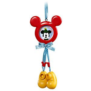 Babys First Holiday Mickey Mouse Picture Frame Ornament -- 1 1/4