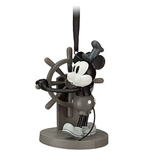 Steamboat Willie Mickey Mouse Ornament