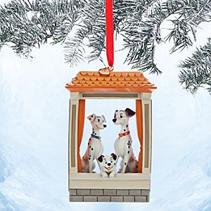 Pongo, Perdita and Lucky Sketchbook Ornament - 101 Dalmatians