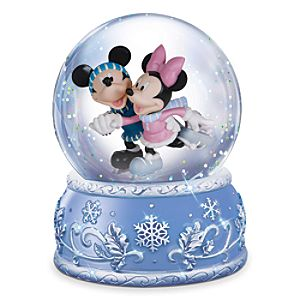 Mickey and Minnie Mouse Musical Water Globe by Precious Moments
