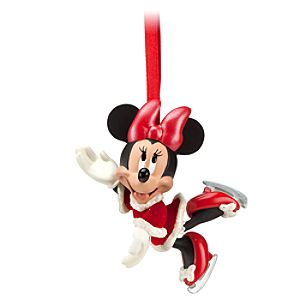 Santa Minnie Mouse Sketchbook Ornament